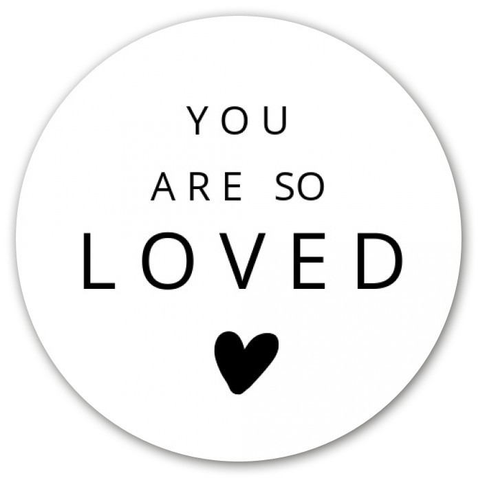 Sluitsticker You are so loved voor
