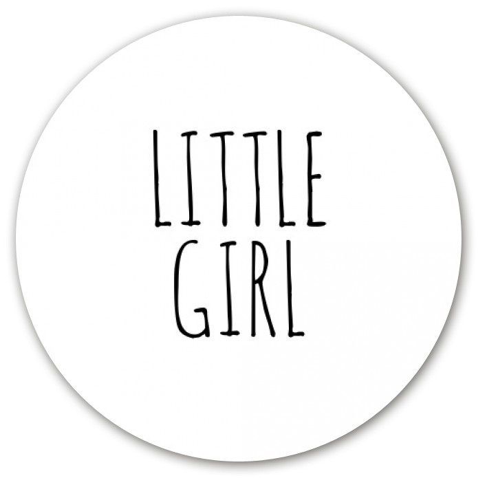 Sluitsticker Little girl voor